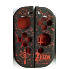 NS switch Joy-Con Controller Protective Anti-Slip Soft Zelda Silicone Skin Case Black/Red