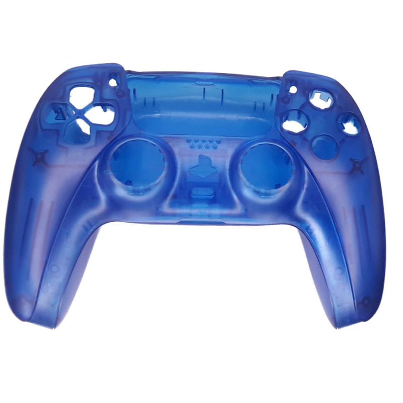 PS5 Dualsense Controller Top and Bottom Shell with Trim + Button set Clear Blue