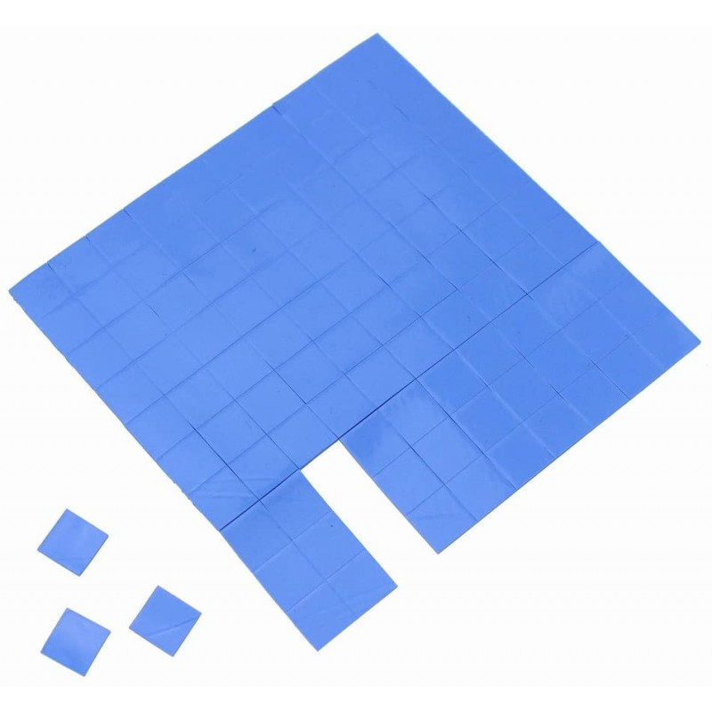 48pcs Blue GPU CPU Heatsink Cooling Conductive silicon Pad thermal pads 10x10x2mm