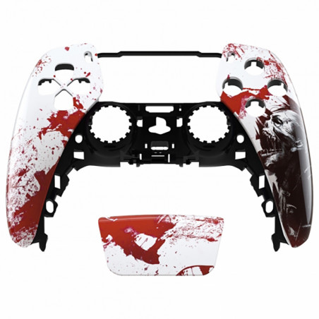 PS5 Dualsense Controller Front Shell With Touchpad Glossy Blood Zombie