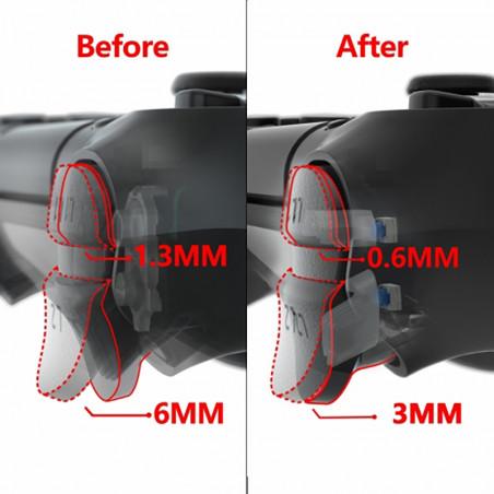 PS4 Dualshock 4 DS4 V2 Tactile Clicky Hair Trigger Kit
