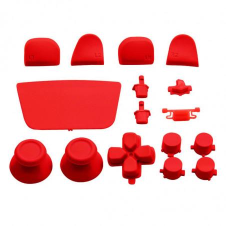 PS5 Dualsense Controller Full Button Set RED
