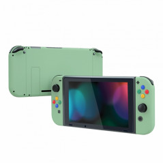 NS Switch Console Full Shell Soft Touch Matcha Green