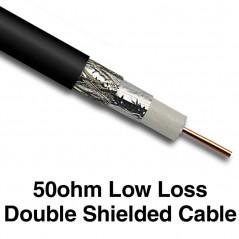 Hi-Grade Low-Loss 50 ohm Double Shielded Cable 33cm