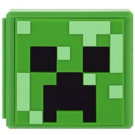 NS switch Game Card Cartridge Storage Case 12 Slot Minecraft Green