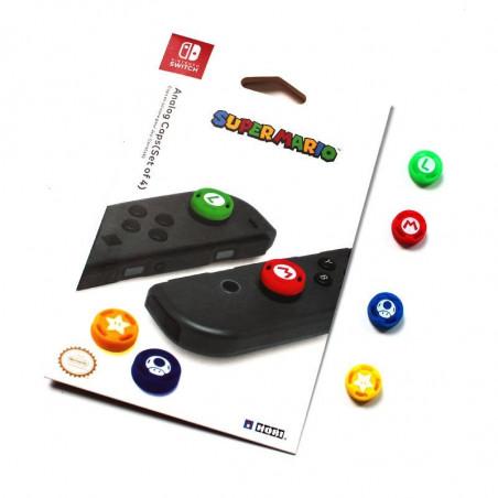 NS Switch Joy-con Thumb Grips Silicone Rubber 4X Set Mario
