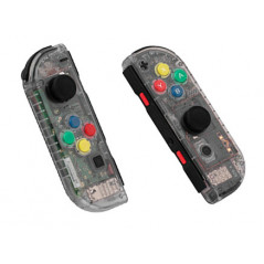Switch Joy-con Left and Right Replacement Case Set Clear Transparent Black