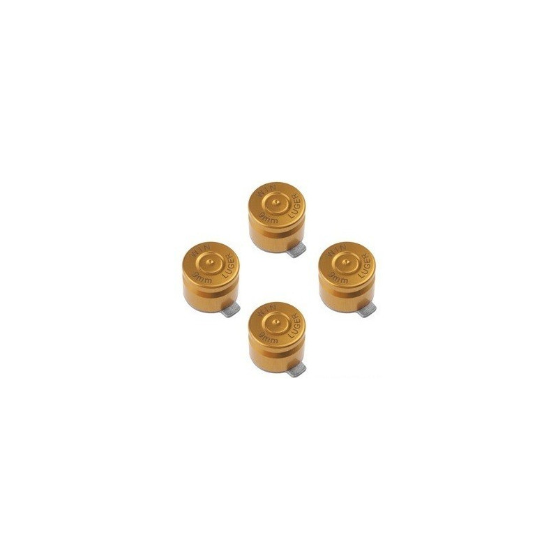 METAL BUTTON SET FOR PS3 BULLET STYLE GOLD
