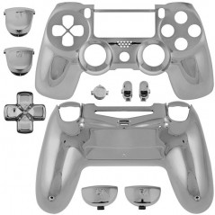 PS4 DUALSHOCK 4 COMPLETE SHELL SERIES CHROME SILVER