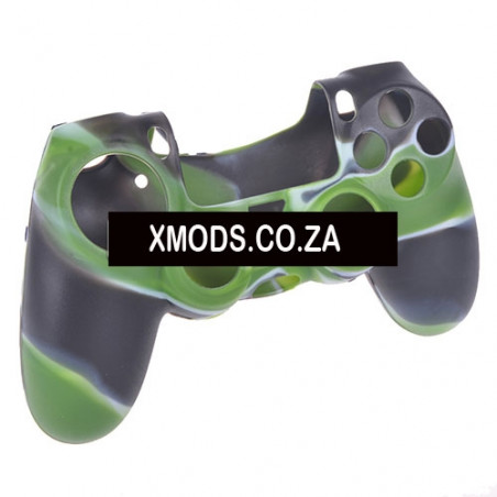 PS4 DUALSHOCK 4 PROTECTION SERIES SILICON SKIN Camouflage Pattern Green + White + Black