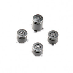 XBOX ONE CONTROLLER METAL ABXY BUTTON SET BULLET STYLE NICKEL BLACK