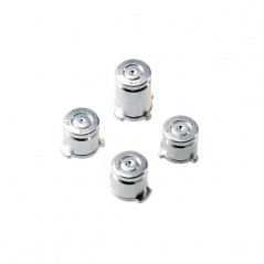 XBOX ONE CONTROLLER METAL ABXY BUTTON SET BULLET STYLE SILVER