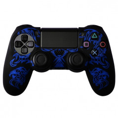 PS4 DUALSHOCK 4 PROTECTION SERIES SILICON SKIN DRAGON PATTERN  BLACK / BLUE