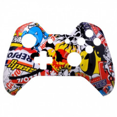 Xbox One Controller Front Faceplate Art Series Sticker Bomb High Gloss Finish