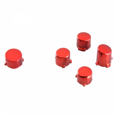 Xbox One Controller Button Set Chrome Red