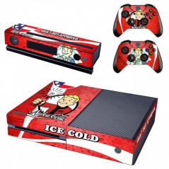 XBOX ONE CONSOLE VINYL SKIN KIT COLA