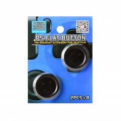 PS4 CONTROLLER BLACK PROJECT DESIGN FLAT BUTTON SET