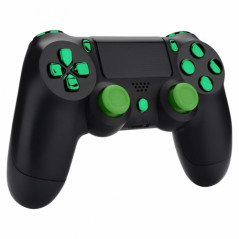 PS4 Controller NEW Version JDM-030 Only Button Set Chrome Green