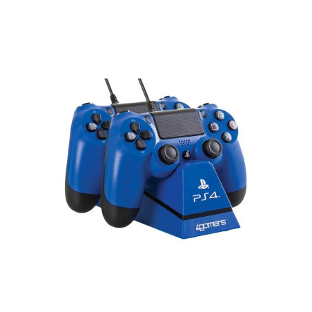 Dualshock 4 DS4 4Gamers Controller Dual Charger Stand BLUE