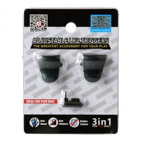 DUALSHOCK 4 DS4 CONTROLLER PROJECT DESIGN 3 IN 1 ADJUSTABLE LR2 TRIGGERS BLACK