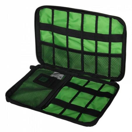 Digital Accessories Storage Pouch Case Travel Organizer Bag BLACK