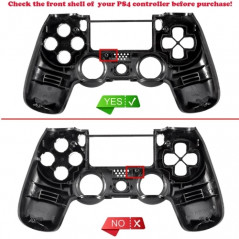 PS4 Dualshock 4 DS4 Controller Touchpad Cover Chrome Orange