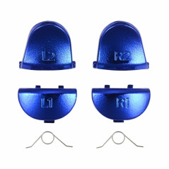 PS4 DS4 Trigger set R1L1 R2L2 with Springs Chrome BLUE