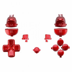 Dualshock 4 DS4 V2 Controller Button Set Polished Red