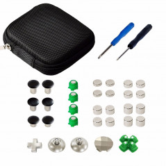 PS4 Controller 31Pcs Metal Swap Thumbsticks Grip D-Pad and ABXY Button Set