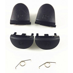 PS4 DS4 Metal Trigger set R1L1 R2L2 with Springs Metallic Grey