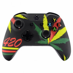 XBOX ONE S Controller Front Faceplate Art Series 420 Culture
