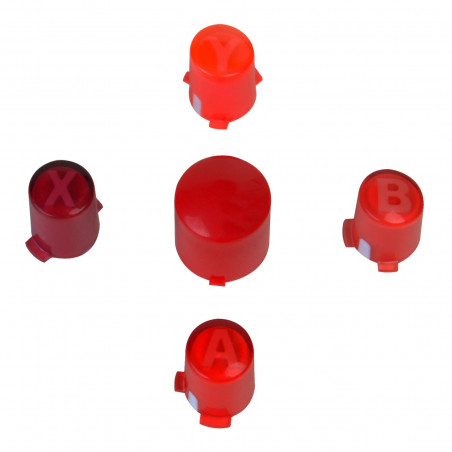 Xbox 360 Red ABXY with Guide Controller Button Set