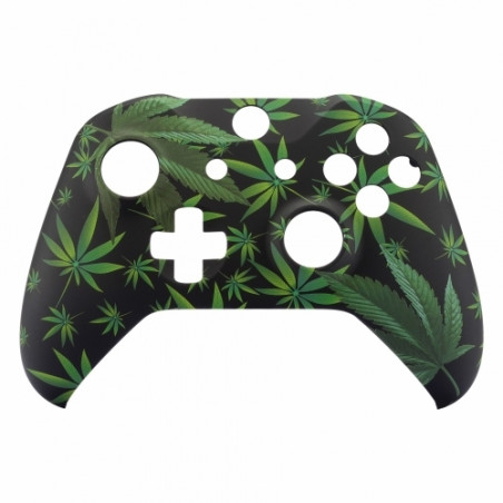 XBOX ONE S Controller Front Faceplate Art Series Soft Touch Greeny