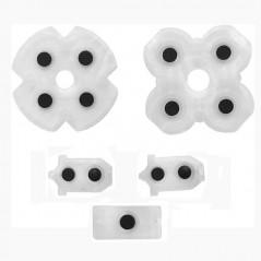 PS4 DualShock 4 Controller JDM-030 Complete Conductive Rubber Pad Set Replacement 5Pcs Set