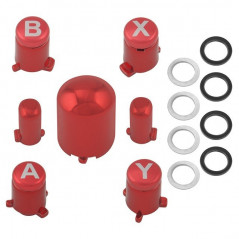 METALLIC ADJUSTABLE ABXY GUIDE BUTTON SET FOR XBOX 360 CONTROLLER RED
