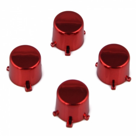 PS4 Controller DS4 Button Set Chrome Red