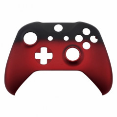 XBOX ONE S Controller Front Faceplate Soft Touch Series Shadow Red