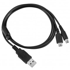 2 IN 1 USB POWER CHARGE CABLE FOR NINTENDO DS Lite/ Dsi/ Dsi XL/LL, 3DS, 3DS XL/LL