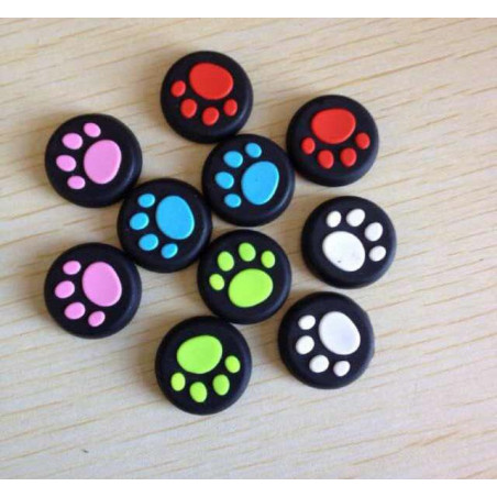 PS Vita PSV Cat Claw Design Anti-slip Silicone Thumb Stick Grip Cap Pink ( Each )