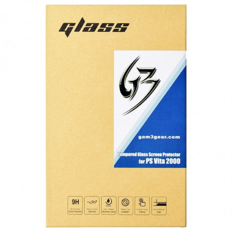 PS VITA 2000 GAM3GEAR FRONT SCREEN TEMPERED GLASS PROTECTOR WITH REAR PLASTIC FILM