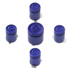 METAL ABXY WITH GUIDE BUTTON SET BULLET STYLE FOR XBOX 360 CONTROLLER BLUE / PURPLE