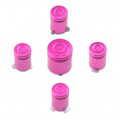 XBOX 360 CONTROLLER METAL ABXY WITH GUIDE BUTTON SET BULLET STYLE PINK
