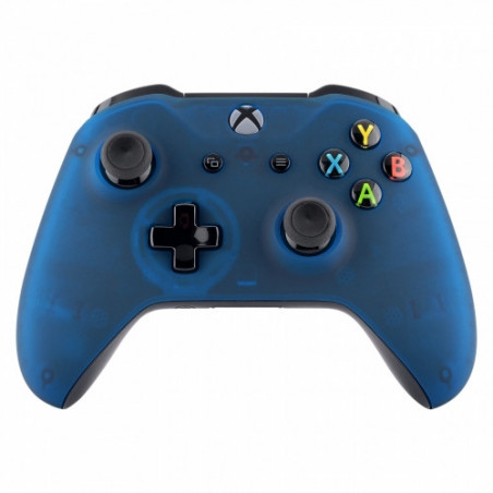 XBOX ONE S Controller Front FacePlate CLEAR BLUE