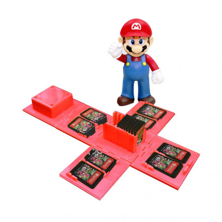 NS Switch 16 Slots Folding Game Cartridge Holder Mario Toad