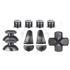 PS4 slim/Pro Controller Metal Analog D-Pad ABXY R1L1 + r2l2 11Pcs Button Set Gun Grey