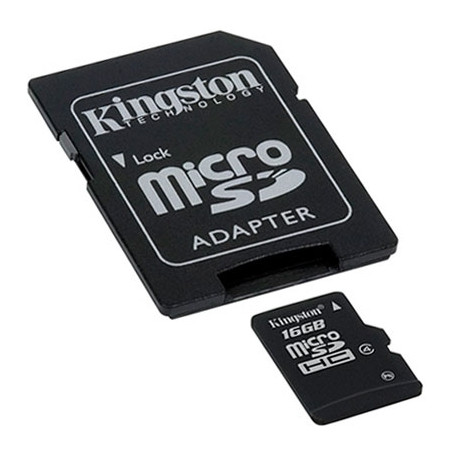 Kingston Micro SD Card 16GB with SD Adapter