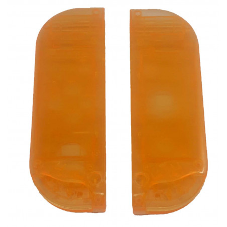 NS Switch Joy-con Left and Right Replacement Case Set Transparent Orange