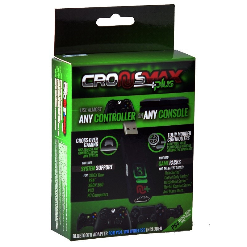 CRONUSMAX PLUS CROSS COVER GAMING ADAPTER W/ ADD ON PACK FOR PS4 XBOX ONE 360 PS3 WINDOWS PC