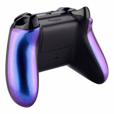 XBOX One S Controller Glossy Chameleon Blue Purple Side Rails