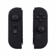 NS Switch Joy-con Left and Right Replacement Case Set Silky Soft Touch Black - DPAD VERSION